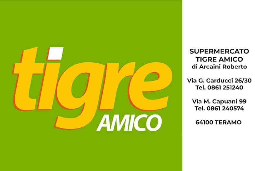Basketball Teramo, main sponsor, supermercato tigre amico