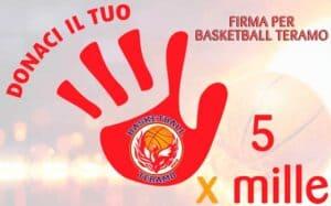 Basketball Teramo dona il 5 x mille