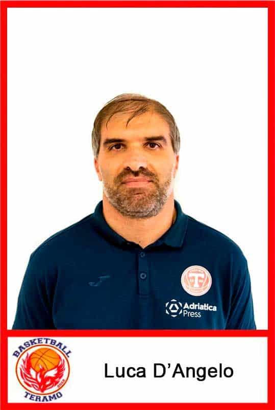 Basketball Teramo, staff, Luca D'Angelo