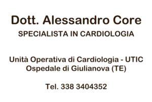 Basketball Teramo, partner, Dottor Alessandro Core specialista in cardiologia