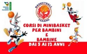 Basketball Teramo corsi di minibasket per bambini e bambine